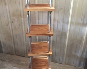 Industrial shelving unit - Industrial Etagere - Freestanding shelving - Modern shelf unit - Wood and Metal shelving - Pipe shelf