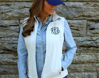 Monogrammed Soft Shell Vest | Ladies' Personalized Vest