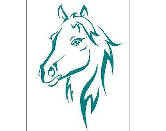 Horse Head Stallion Mare Animal Plastic Reusable Stencil 350