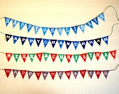 Miniature Merry Christmas, Happy Holidays, Happy Hanukkah OR Happy New Year Party Banner (1/6 or 1/12 scale) bunting pennant years nye xmas