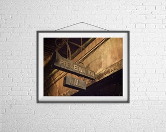 Fine Art Photography Print - Travel, Abstract, Still Life - Preservation Hall - New Orleans, USA