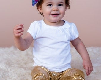 Gold leggings, baby girl leggings, baby gold leggings, toddler gold leggings, baby girl, girl leggings, toddler leggings, harem pants