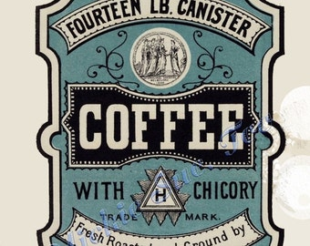 1800s Kitchen Cannister Labels DIY Print Instant Download Sugar Flour Coffee Tea
