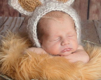 Bunny Hat, Easter Bunny, Baby Bunny, Photography Prop, Bunny Hat, Easter, Photo Prop, Easter Bunny, Bunny Bonnet, Easter Bonnet, Easter Hat
