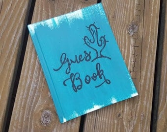 Cactus guest book, vacation home guestbook, arizona guest book, desert wedding guest book