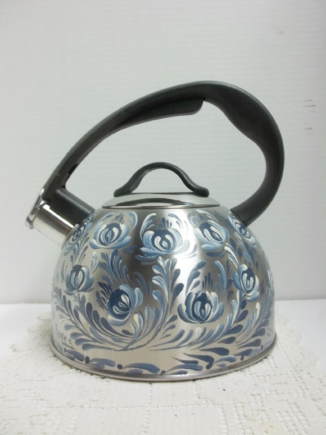 Tea kettle stainless steel chantal whistling by folkartbynancy - Chantal teapots ...