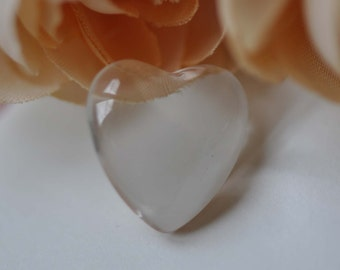 20 pcs Crystal Glass Heart Cabochon Dome Cameo 16mm A7733