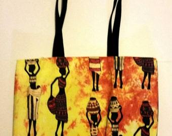 African Women Tote Bag, African Ladies tote,