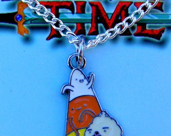 Adventure Time Candy People silver necklace