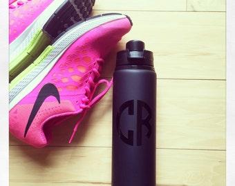 Personalized 28oz Aluminum Water Bottle {black matte}