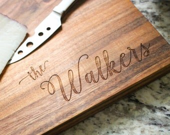 Personalized Cutting Board, Custom Engraved Cutting Board, Monogrammed Board, Custom Serving Platter: Wedding Gift, Housewarming Gift