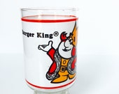 Vintage Burger King Collectible Glass