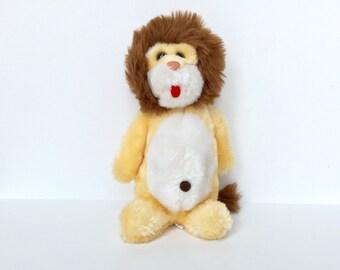 Vintage 1970s Lion Stuffed Animal
