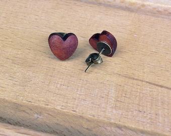 Heart Wooden Earrings