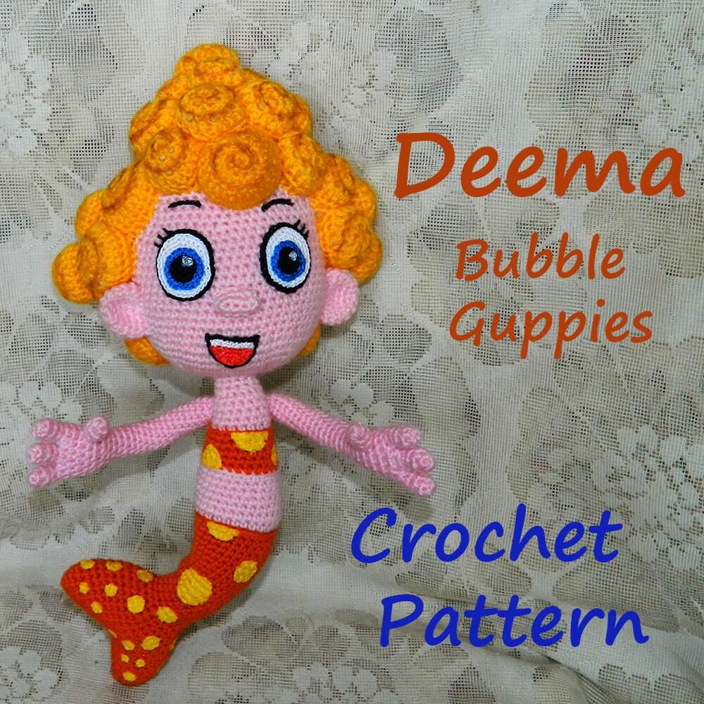 crochet pattern deema bubble guppies from inspiredcrochettoys on