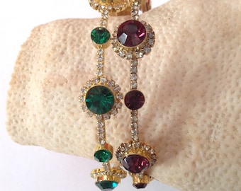 Art Deco bangles with Swarovski Crystals