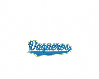 Vaqueros - Team Headband Slip On  - DIGITAL EMBROIDERY DESIGN