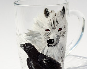 Game Of Throne Direwolf Mug, Winter is Coming, House Stark, GOT gift