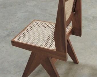 Armless Dining Chair - Natural Teak Finish