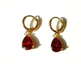 Gold plated Girl Fashion Jewelry Earrings.