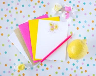 Lemon Stationery Cards - Lemon Note Cards - Fruit Notecard Set