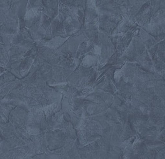 Dark Blue Distressed Stucco Faux Texture Kitchen Rustic