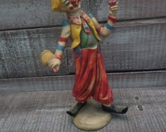 Vintage Clown Sculpture / Figurine
