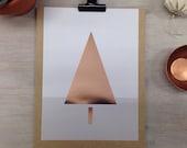 Chrismas kaart briefkaart Opmerking Card Mini poster Rose goud Trend ontwerp geometrische driehoek boom kaart wenskaart Wishing Postkaart