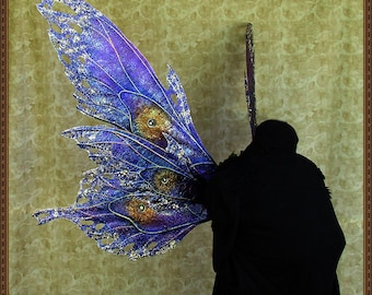 Adult Fairy Wings**Iridescent Purple/Blue/Gold Fairy/Moth**FREE SHIPPING**Costume/Masquerade/Cosplay/Weddings/Renn Faires/Photo shoots