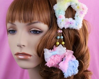MADE TO ORDER-Sweet Lolita Hair Accessory-Fairy Kei Accessory-Alligator Clip-Women's Hair Accessory-kawaii accessory