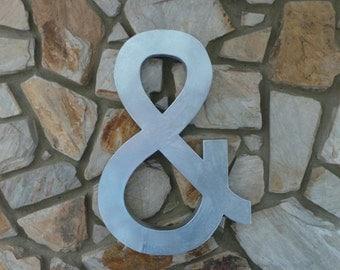 "Faux Zinc 24"" Metal Paper Mache Letters - A-Z and CUSTOM COLORS available"