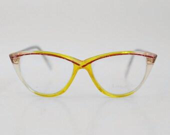 Vintage Brendel Lunettes eyeglasses / Cat Eye Glasses / Deadstock Womens Frames / Translucent Eyewear / West Germany - 70s
