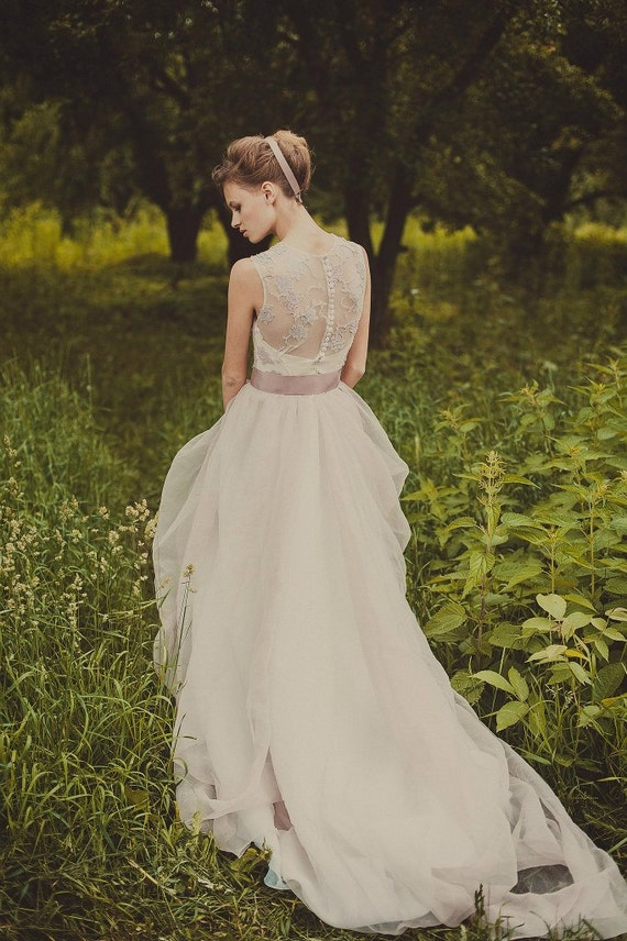 Exclusive Light Purple Fluffy Wedding Dress By Cathytelle