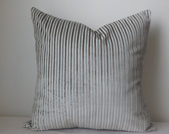 Designer striped velvet.18x18,19x19, pillow cover,decorative pillow, accent pillow,throw pillow,same fabric front and back