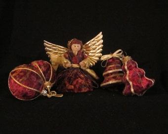 Velvet Christmas Ornaments