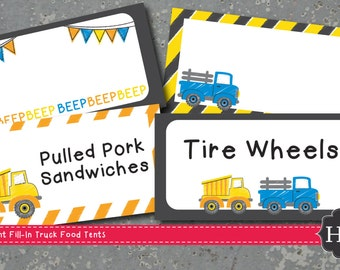 Little Blue Truck Food Tents Dump Truck Food Tents Blue Truck Food Tents Farm Food Tents Digital File by Busy bee's Happenings
