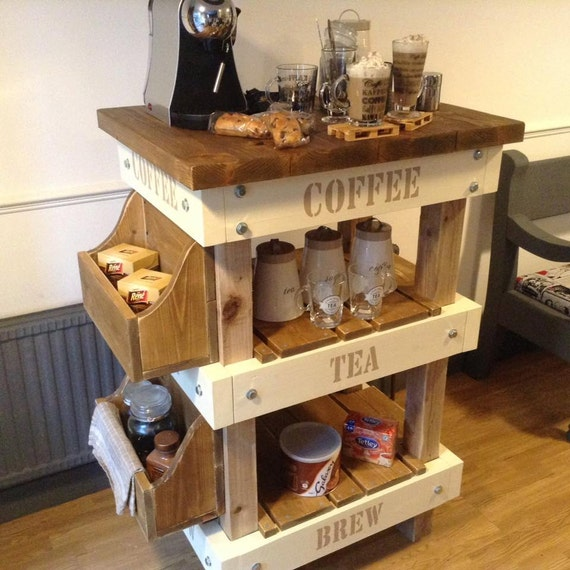 Items Similar To Handmade Industrial Rustic Coffee Cafe
