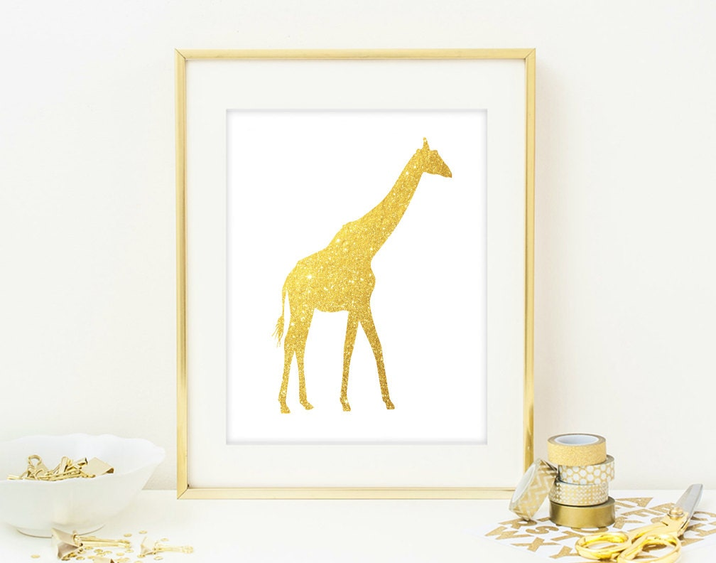 Giraffe Wall Art Print Modern Chic Home Decor By Quantumprints