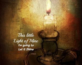 LIGHT OF MINE Magnet by Anita of Zen to Zany
