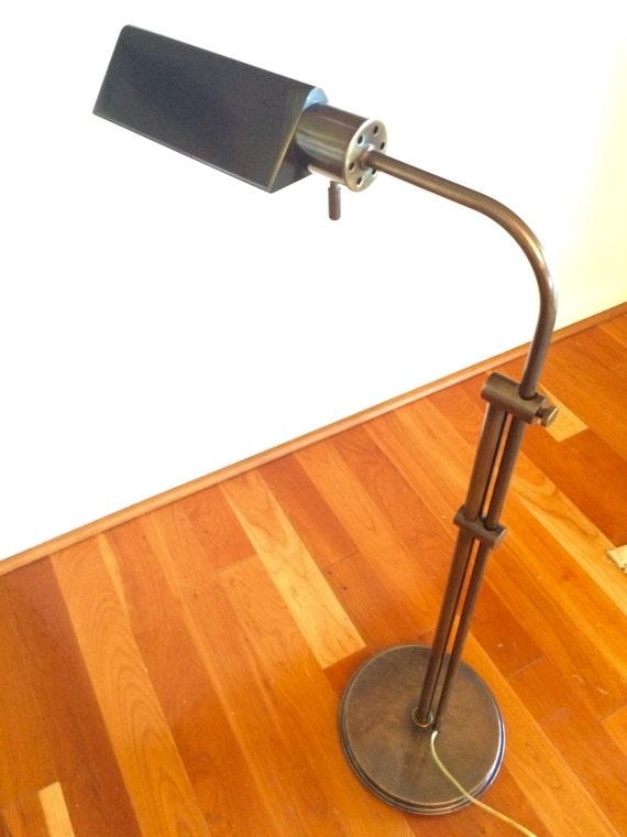 Vintage frederick cooper floor lamp adjustable height antique for Antique brass adjustable height floor lamp