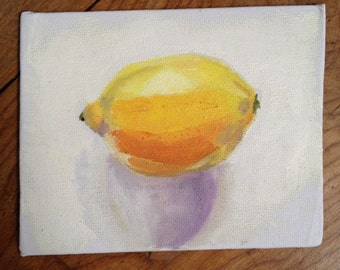Lemon original oil paint still life