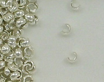 Sterling Silver 4mm Crimp Covers, Choice of Lot Size & Quantity
