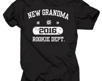 Grandmother 2016 T-Shirt New Grandma 2016 Tee Shirt Baby Shower Birth Announcement Tee Shirt