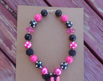 Minnie Mouse Inspired Necklace