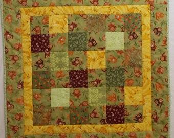 Monkey Modern Baby Quilt #1