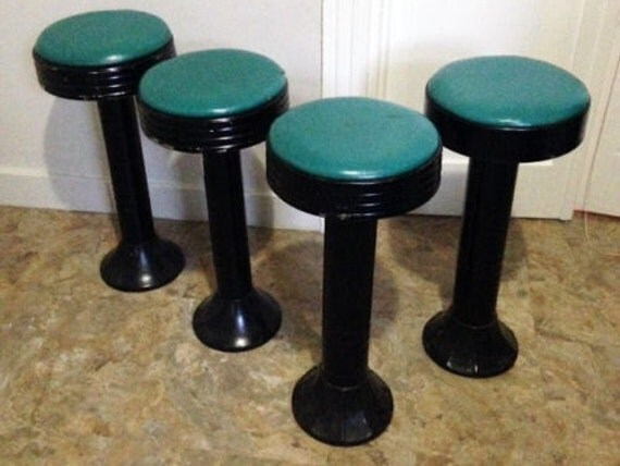 Antique Cast Iron Soda Fountain Bar Stool Metal Stools