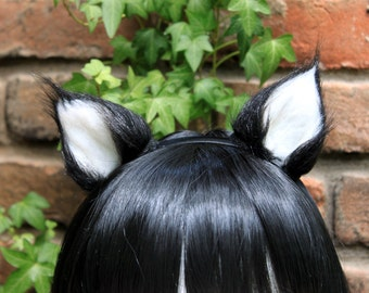 Small Tuxedo Cat Ear Headband