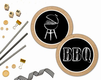 BBQ Printable, BBQ Labels, Printable labels, BBQ Stickers, I do bbq, I do bbq printable, I do bbq label