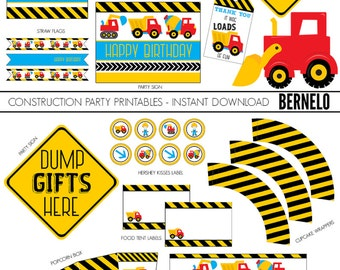 construction birthday printables,construction birthday,construction birthday decor,construction birthday party,construction party printables