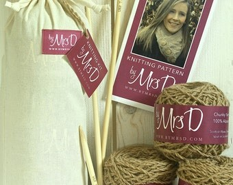 DIY KNITTING KIT - Cairns Scarf Knitting Kit by Mrs D